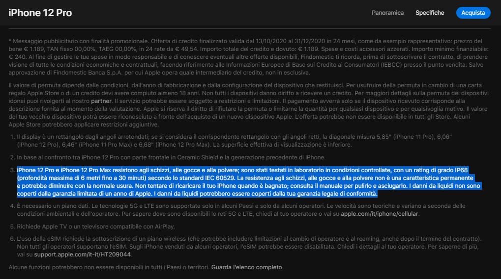 苹果宣传iPhone防水却不保修 意大利反垄断机构开出近亿元罚单