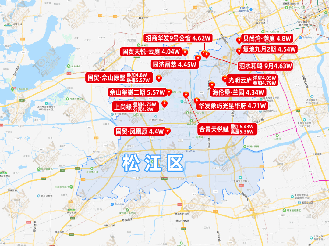 掘!上海房价地图含金