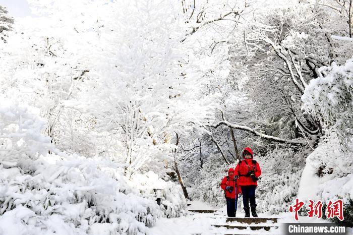 安徽黄山雪霁 美如仙境