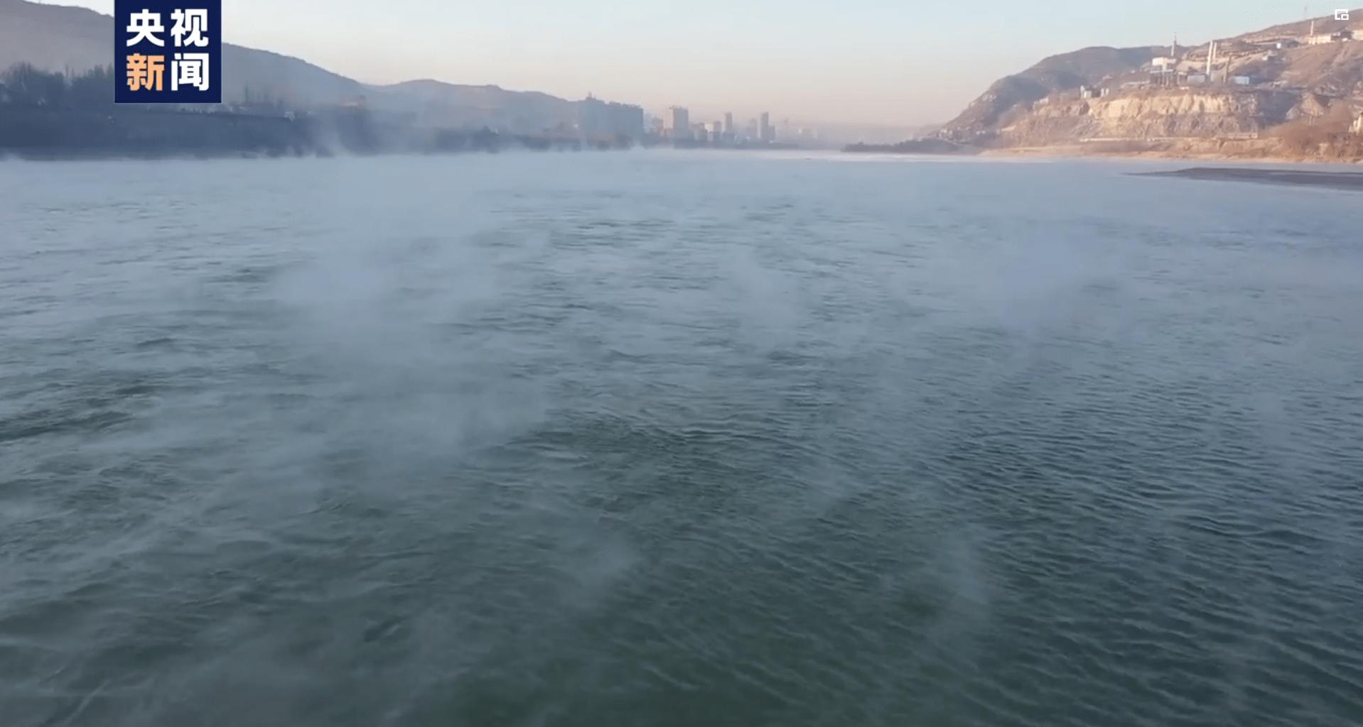 """""""水煮黄河""""你见过吗?陕西榆林上演这一奇妙景象……"""