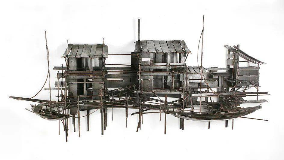 钢铁结构 竹编的质感