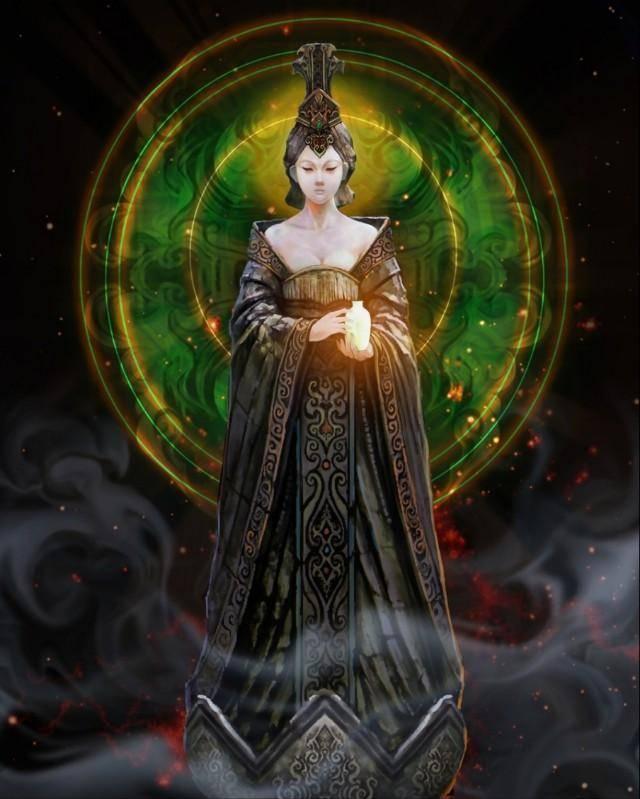 西王母真身图(青铜门后的终极西王母)