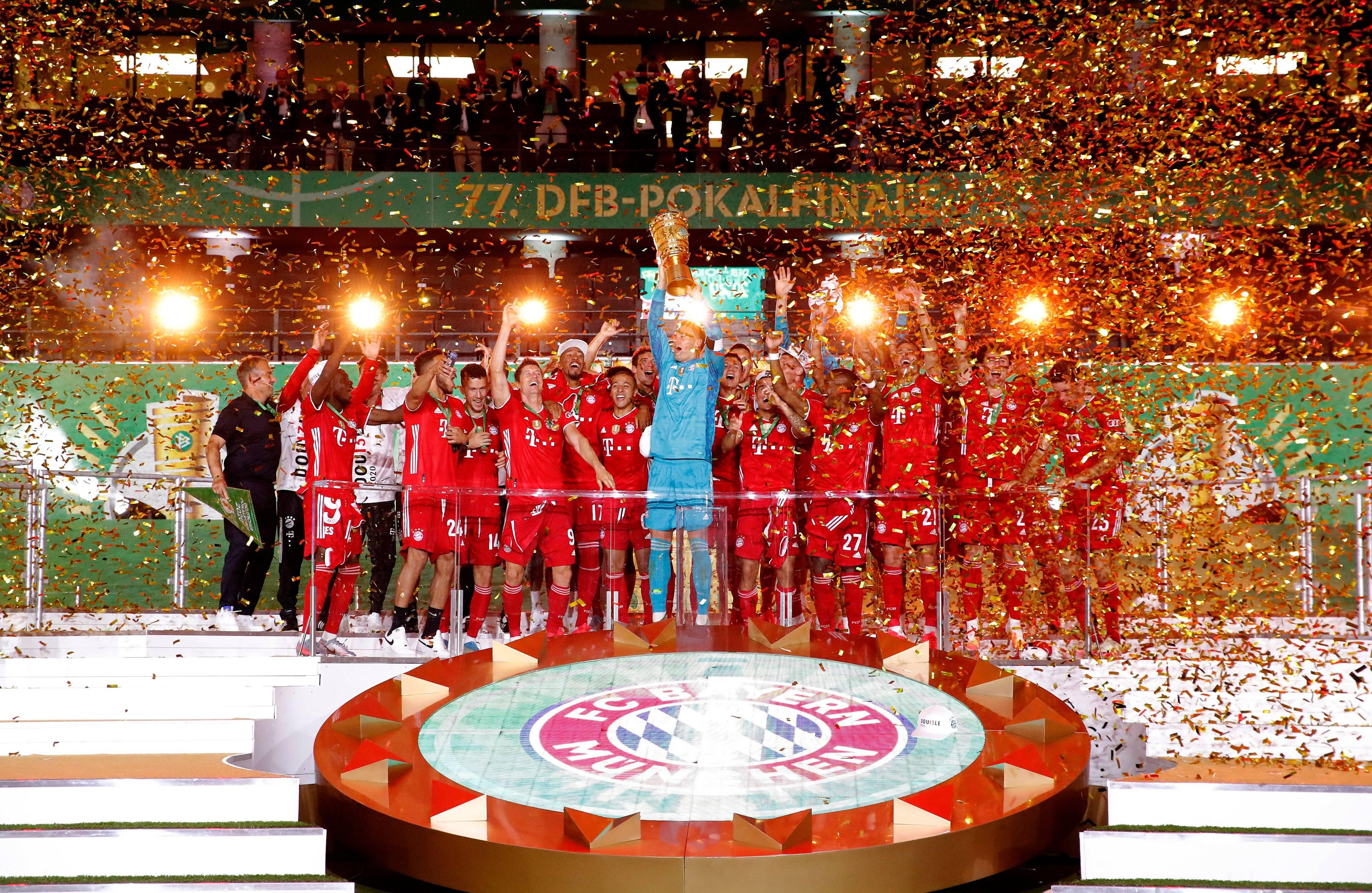 双冠王!拜仁诠释德甲无敌队 再接再厉冲欧洲三冠王