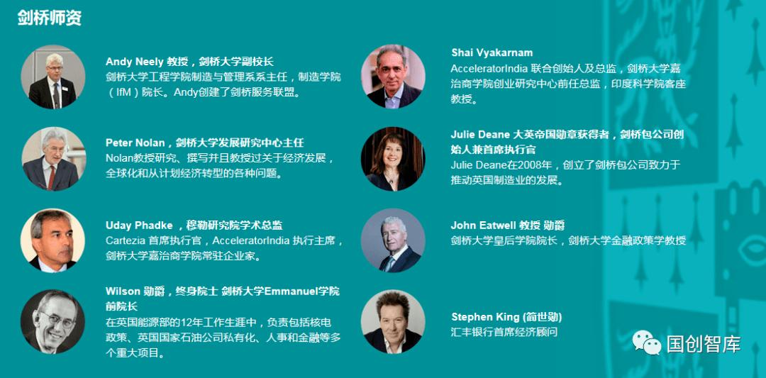国创智库全球金融资本领军企业家培养计划 国际经济学访问学者项目招生简章