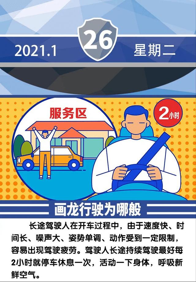 安全提示每日一图 画龙行驶为哪般?