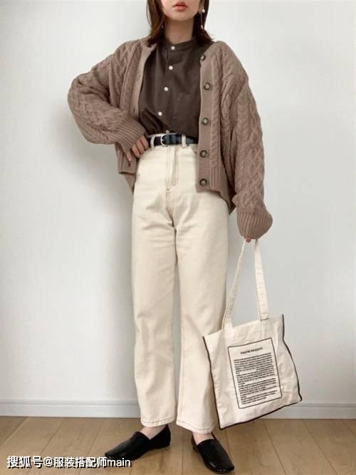 155cm小个子女生别错过休闲裤 照这4种方法选 显高显腿长 爸爸 第22张