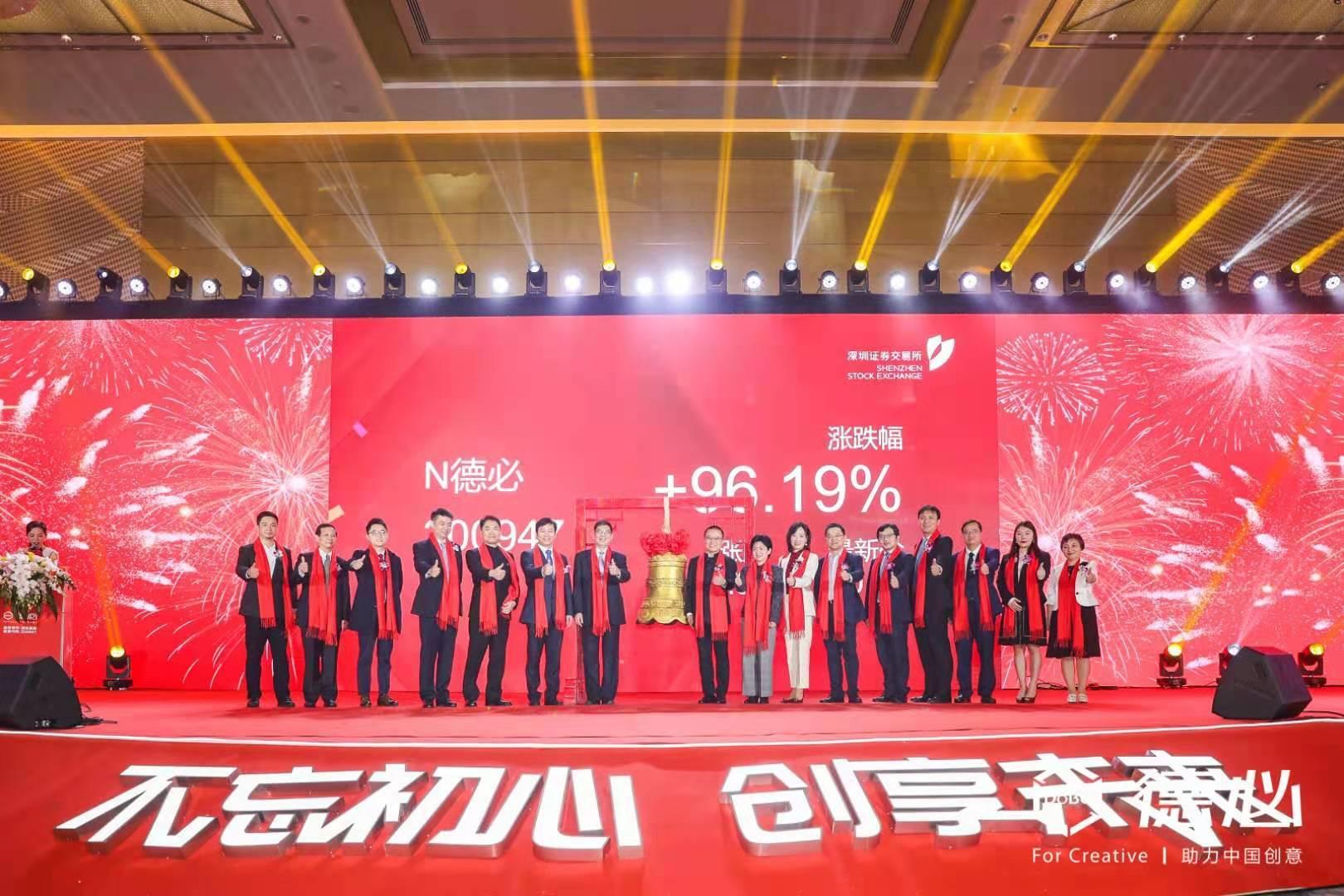 中国文创园龙头企业,德必集团成功登陆创业板