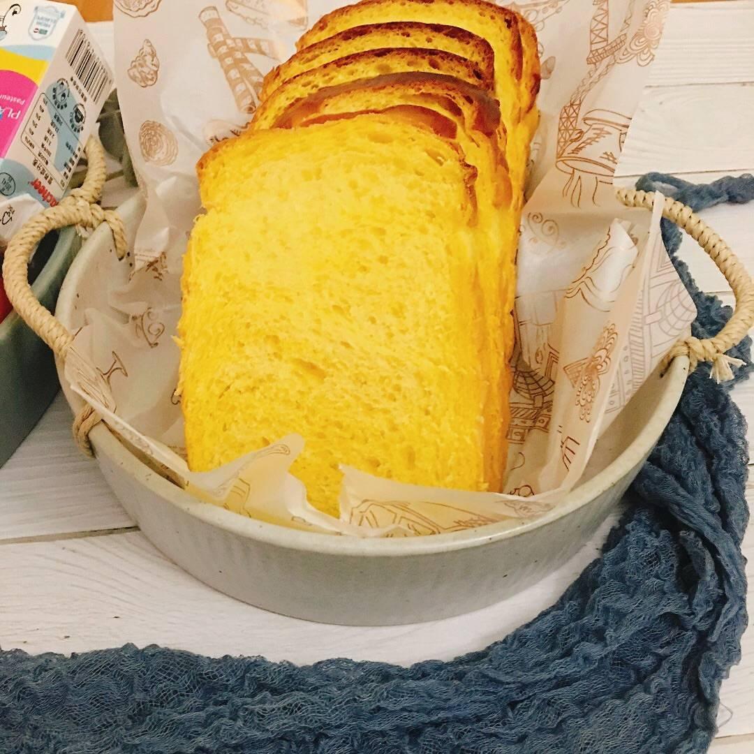 【金黄色南瓜吐司】的做法+配方,味道真的好,看起来就有食欲!
