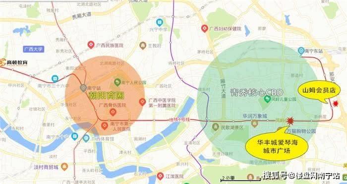 南宁凤岭北喜提2大商业体配套,这几楼盘通通受益会涨价吗?