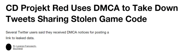 CD Projekt正解决游戏代码泄露问题 删除代码相关推文