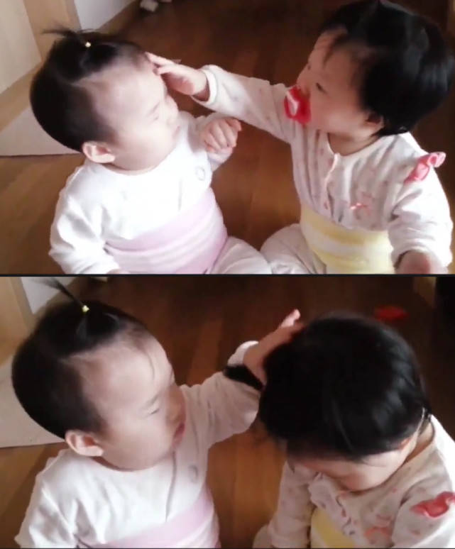 热依扎晒被娃挠破脸照,配文:亲生的!宝宝为啥喜欢挠人脸揪头发