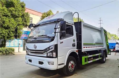 东风多丽卡K7后装压缩垃圾车新升级8立方米容量,超柴170马力刘国发动机