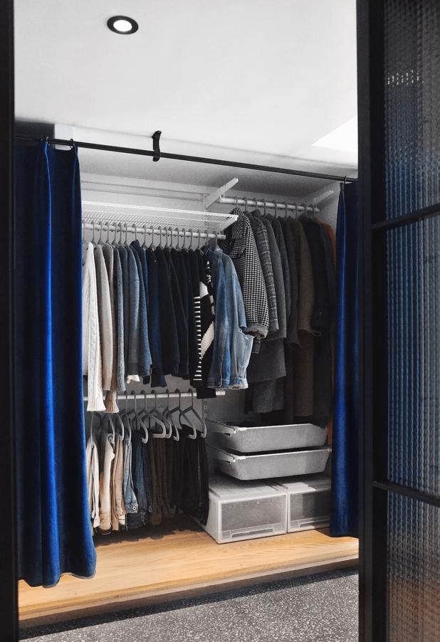 将玄关打造成衣帽间,这个51㎡的loft设计太有水平了!华而实用!