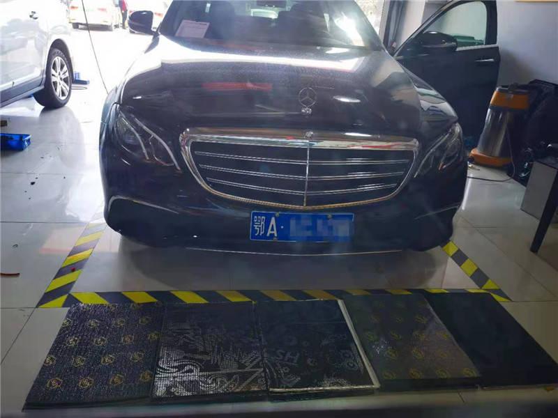 三种噪音一次解决。武汉歌德奔驰E300轿车隔音改造