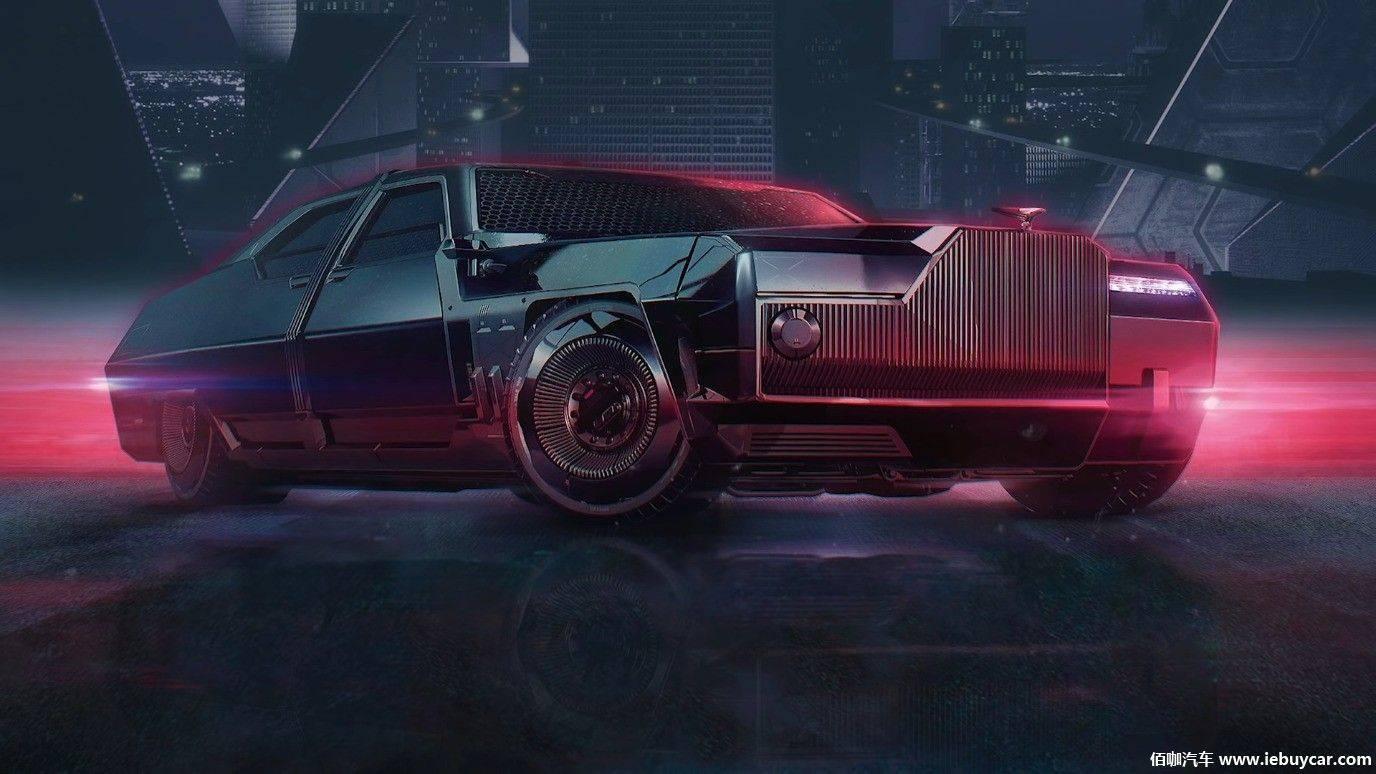 劳斯莱斯幽灵渲染赛博朋克2077汽车渲染疯狂狂野迷人