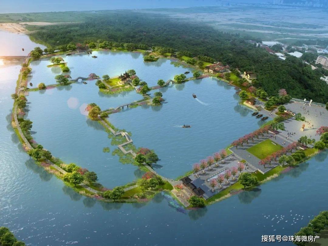 """珠海又一个""""新""""公园!亭台、水榭、栈道……还可游船!"""