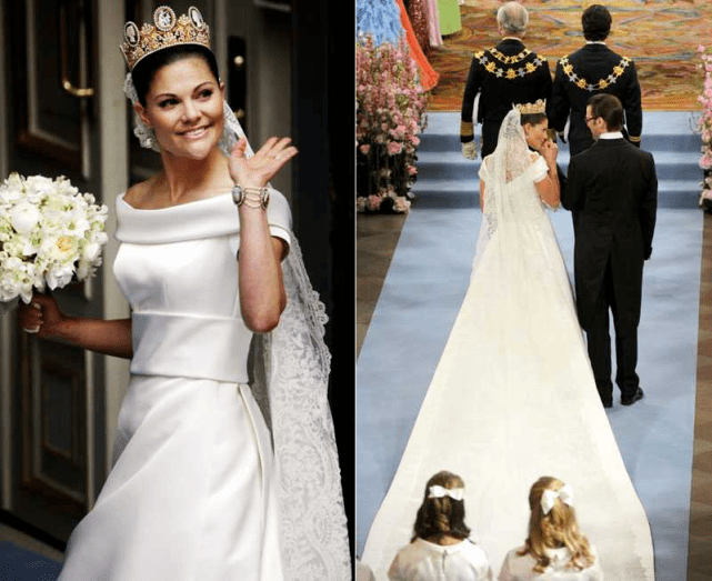原创             瑞典43岁女王储美得清新!裹绿松石蛋糕裙扮嫩,H&M牌子我也买得起