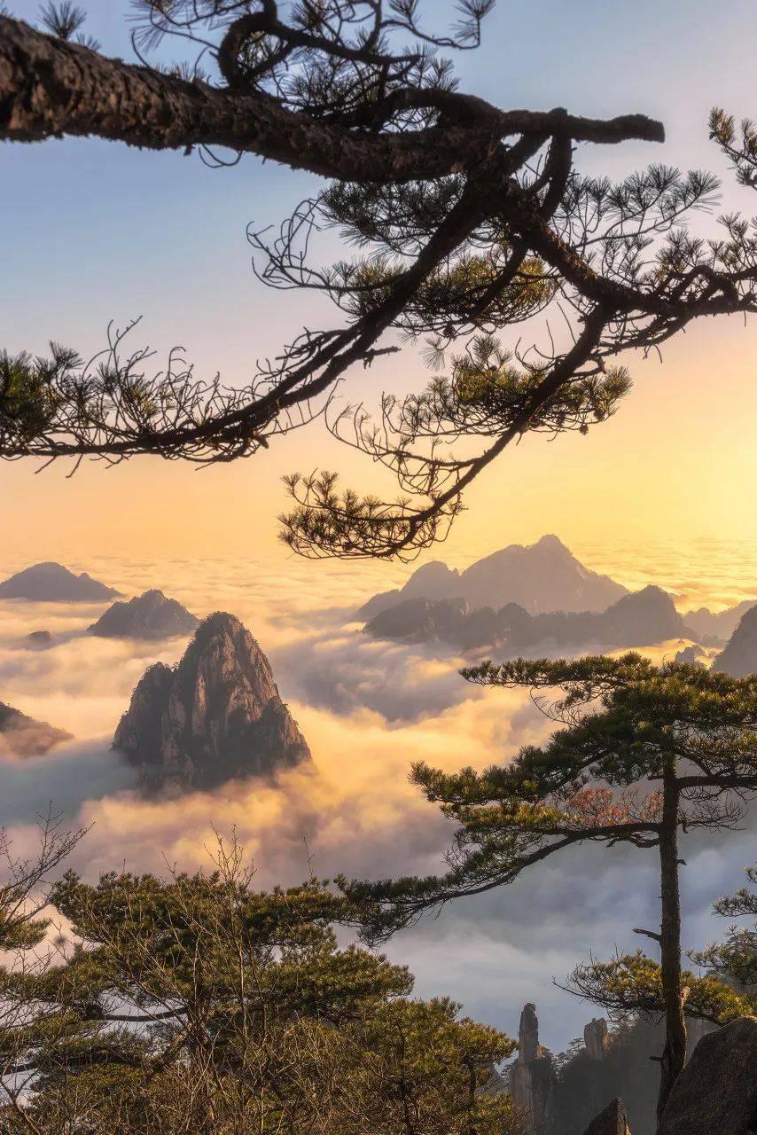 天悦官网平台江南的春天,藏在徽州的老街、被晨雾围绕的古村落