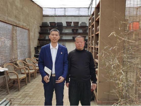 与乡愁对话 青年作家陶凯龙到海城亲兴民俗馆进行文化交流