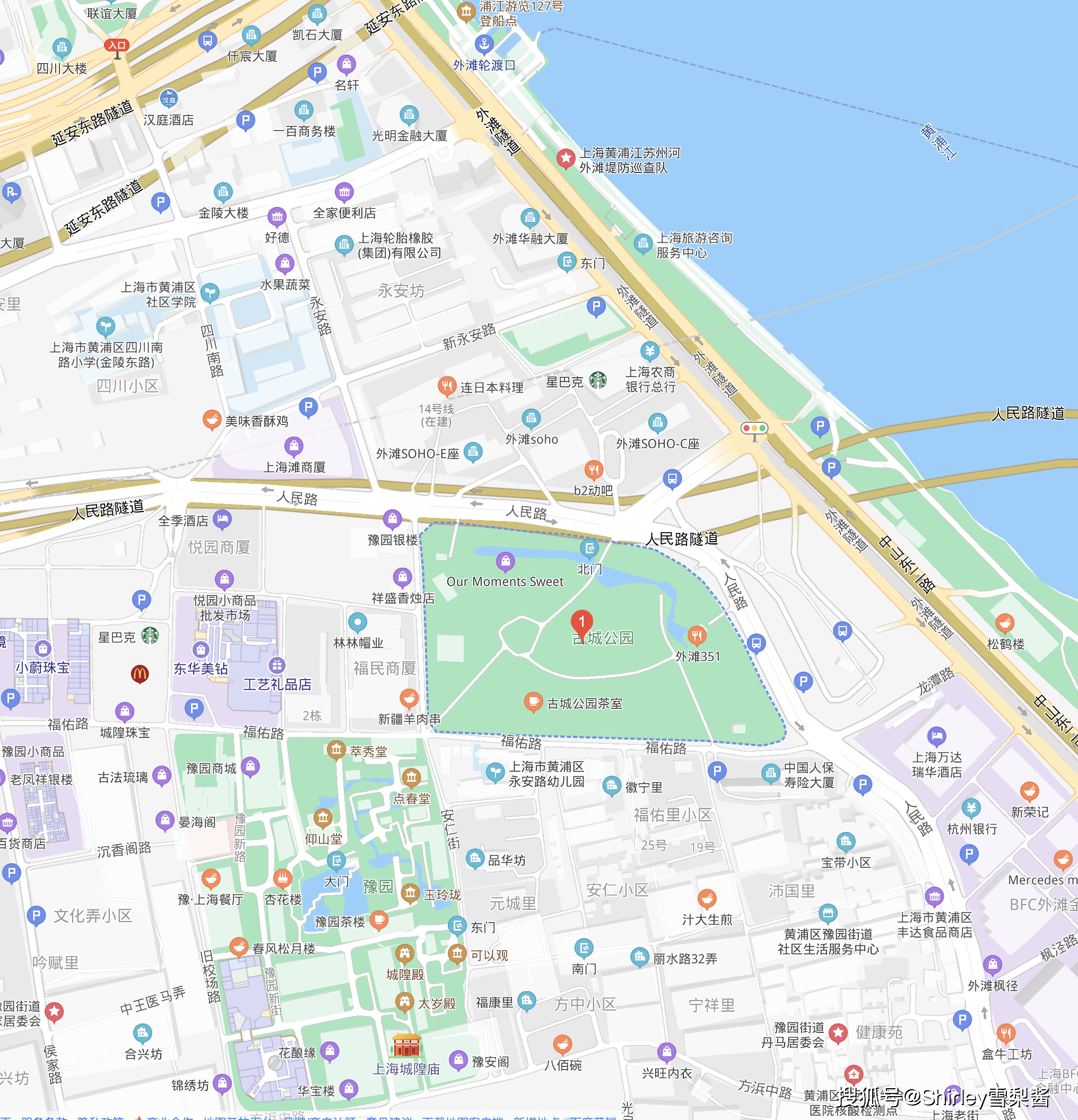 拆迁4123户,上海在市中心建了座免费公园,连接外滩城隍庙两大景区
