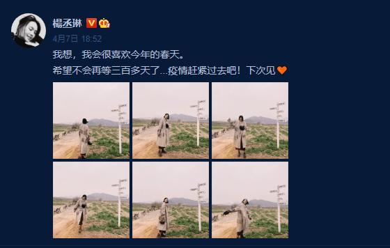 杨丞琳将返台 不舍李荣浩:希望不会再等三百多天