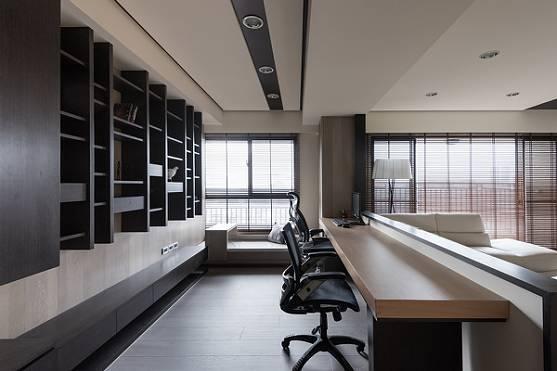 客堂书房一体化设计,一房当两房用,邻人们见