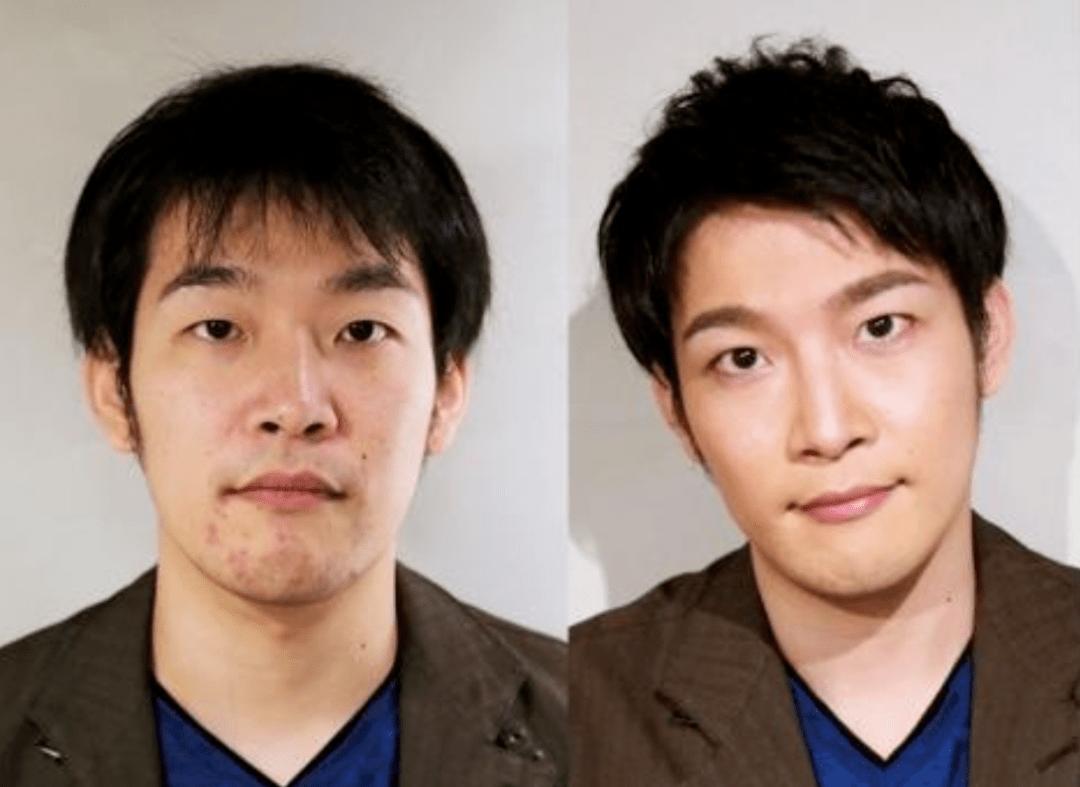 """原创             日本小哥3年苦练化妆,改造对比等于""""换头"""",不化妆太吃亏了"""