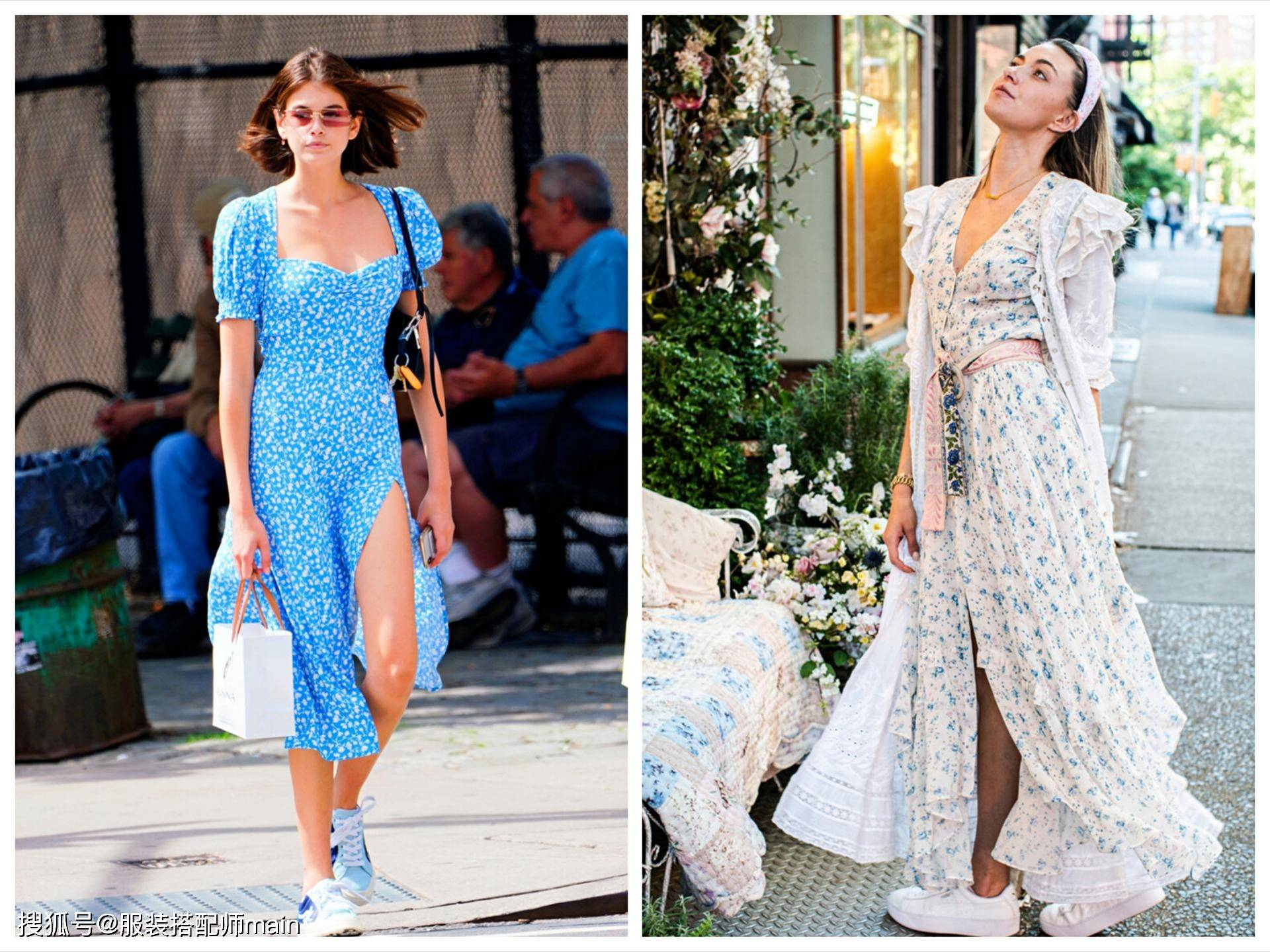 原创             这三条连衣裙太适合搭配运动鞋了,照着穿舒适又时髦