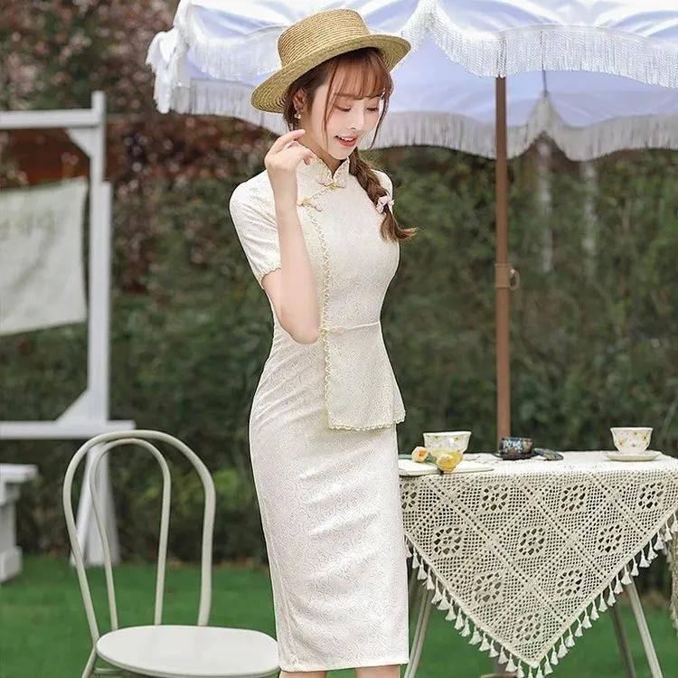 少女立体连衣裙旗袍,轻熟优雅很惊艳,一举一动都格外让人惊艳!