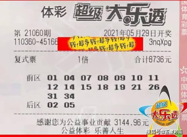 大樂透060期曬票,萬元復式票引人注目,單式10倍票奪人眼球