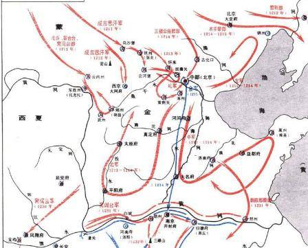 蒙古滅金的三峰山之戰