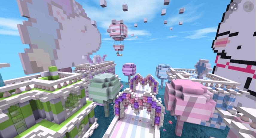 迷你世界紫色控必玩系列(两大童话主题地图碰撞)