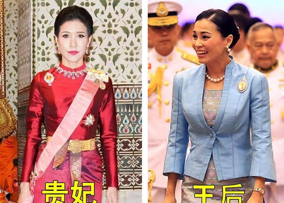 泰国国王撒花赐福,身后苏提达跪着行走抢镜,却引得贵妃一脸不爽