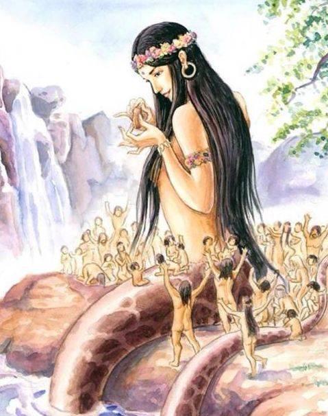 傳說中人首蛇身的女媧,是個大美女嗎?