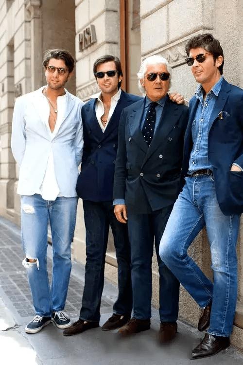 西装搭配牛仔裤 教你穿出时尚型男感~-家庭网