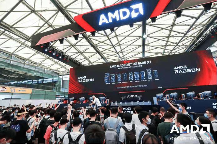 AMD Radeon RX 6600 XT新品显卡首秀 掀起ChinaJoy 2021首日小高潮