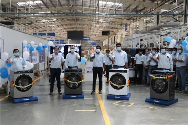 在印度:海尔智家下线高端滚筒洗衣机,助力收入利润双增长