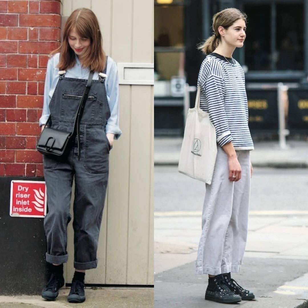 """巴黎素人街拍,没有""""大红唇+高跟鞋"""",简单t恤配长裤一样好看"""