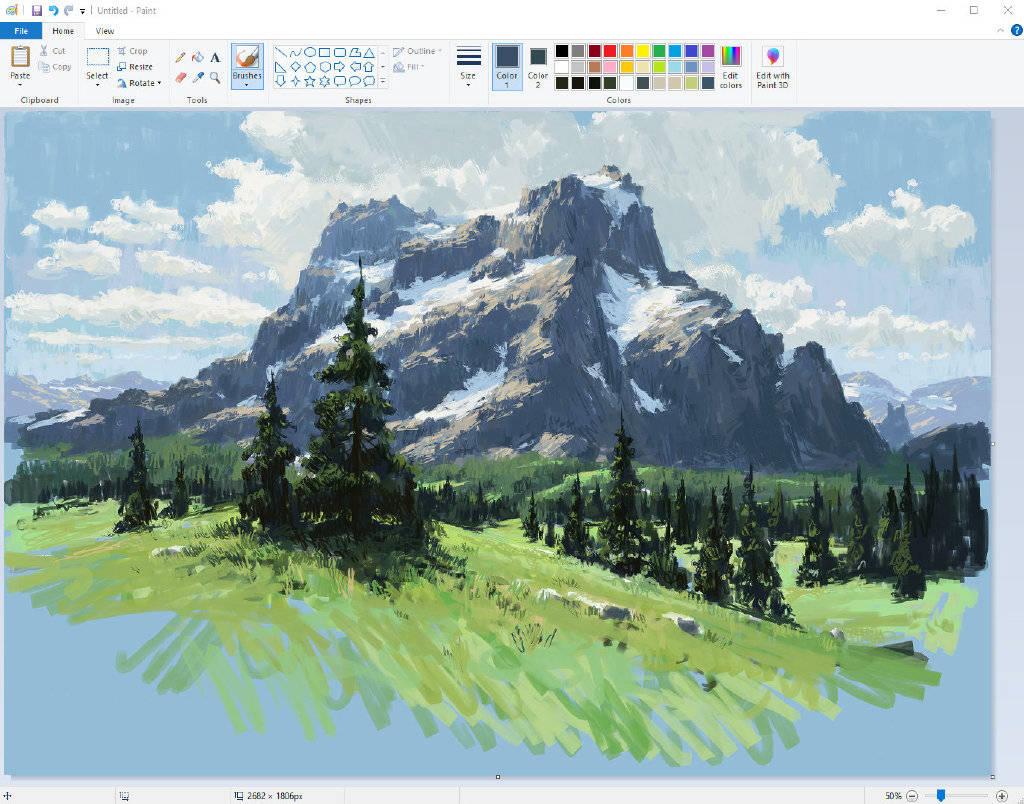 """国外大神用电脑自带画图工具画的风景画,朋友们来看""""神仙""""啊"""
