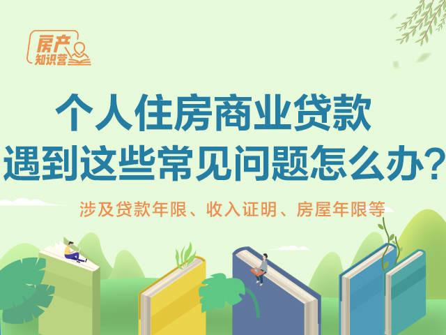 【房产知识营】申请个人住房商业贷款时,遇到这些常见问题怎么办