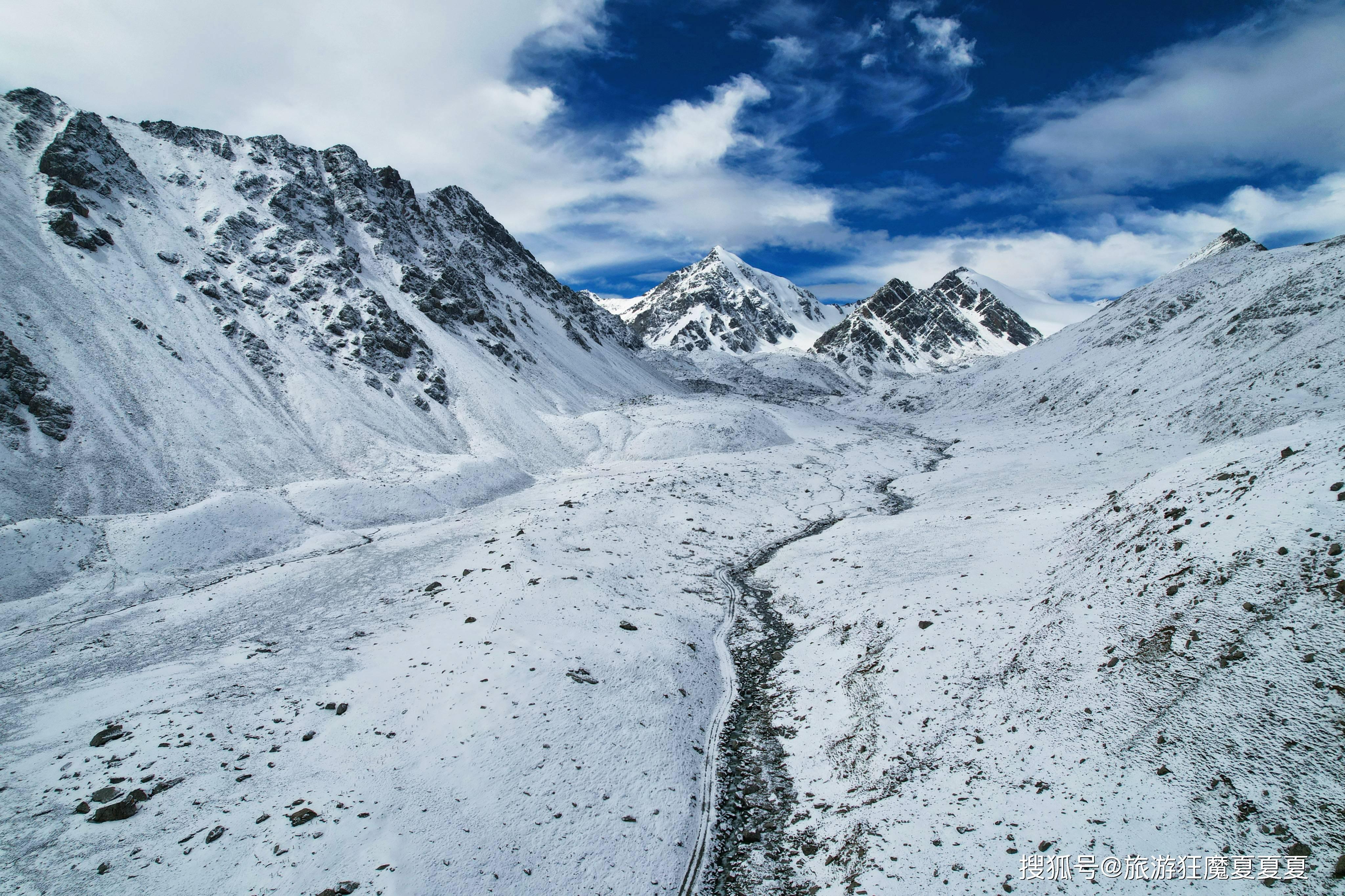 裕固族人心中的圣山,六座雪山接连成片,主峰海拔5118米