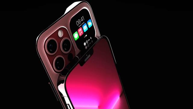 iPhone 14 Pro渲染图曝光,新增樱花粉和大面积副屏