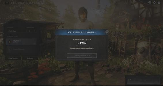 亚马逊服务器太少导致《新世界》排队超过30小时才能正常游玩