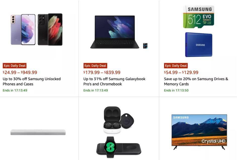 原创             三星产品在亚马逊全面降价,真金