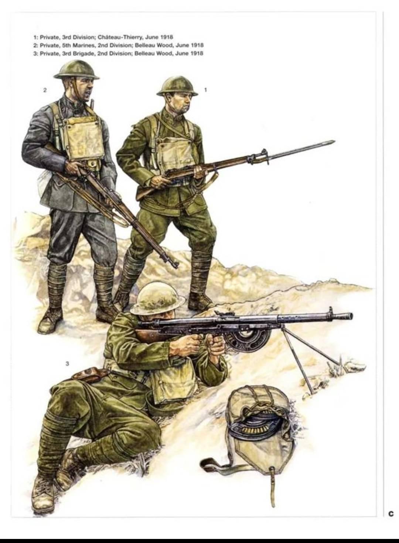 一战时期的美军步兵
