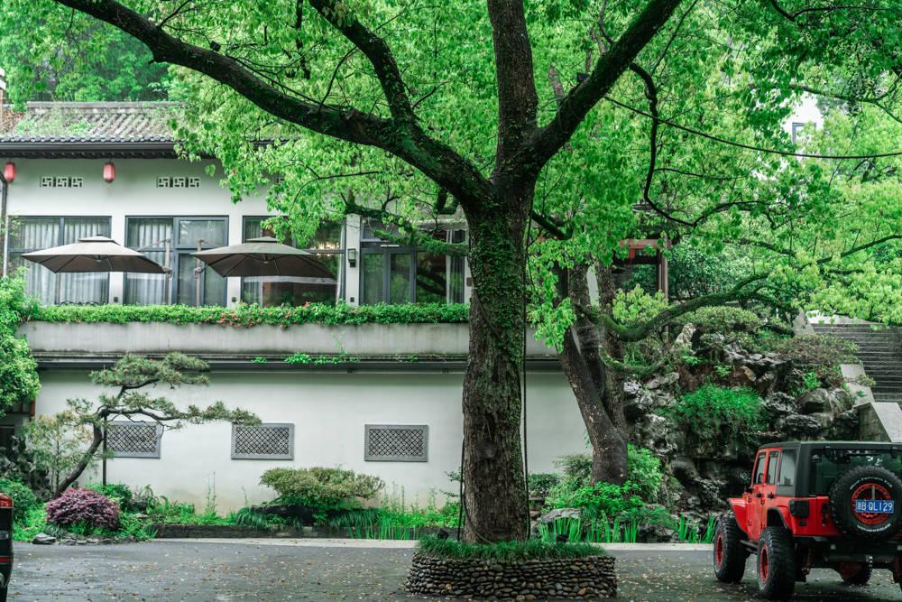原创             隐在杭州西湖绿色画卷的梦溪山庄,感受与山野自然融为一体