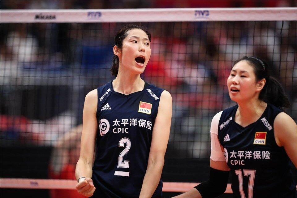 奥运测试赛中国女排3-0日本 第3局落后5分朱婷救4局点