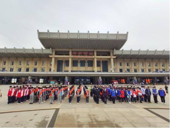 """山东济南西站东广场举行""""五三惨案""""93周年纪念活动"""