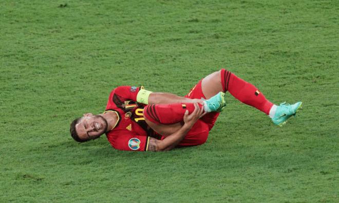 比利时哭了!阿扎尔大要率退出欧洲杯 无缘战意大利