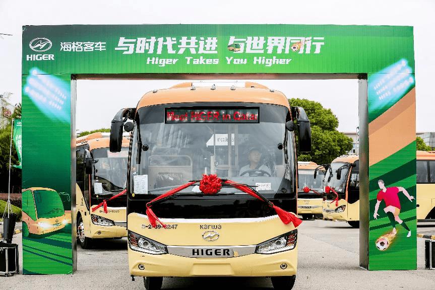 首批644台苏州金龙服务2022世界杯用车抵达卡塔尔多哈